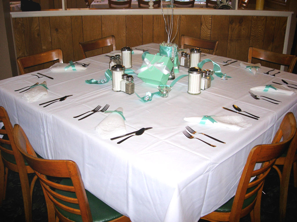 bec9a2a32ad Tiffany Theme Dinner - Brookside Cabins